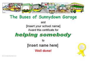 Picture: Helping somebody certificate
