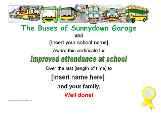 Picture: Improved attendance certificate