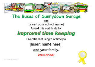 Picture: Improved time-keeping certificate